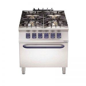 Cocina Gas 4 Quemadores Horno Eléctrico