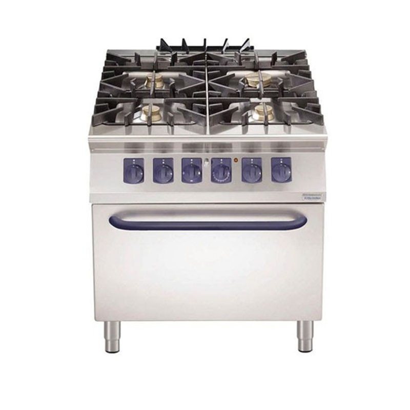 Cocina gas 4 quemadores s horno el ctrico electrolux - Cocinas de gas natural con horno ...