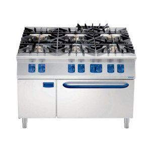 Cocina Gas 6-8 Fuegos Horno Gas