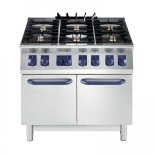 Cocinas a Gas de 6 Quemadores con Horno