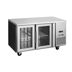 Mesón Refrigerado Puertas de Vidrio 280 Litros VMR2PS-280V Imega