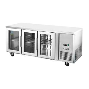 Mesón Refrigerado Puertas de Vidrio 420 Litros VMR3PS-420V Imega